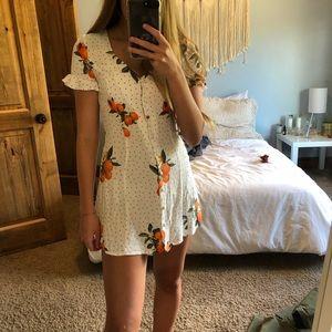 Mini button up dress